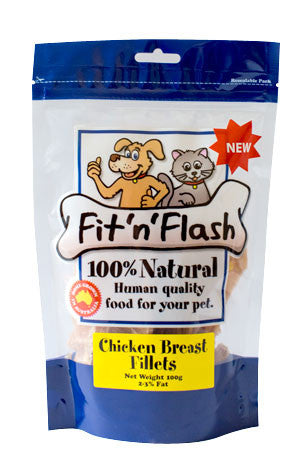 Fit 'n' flash chicken breast fillets-BULK BUY 8 x 100gm packs