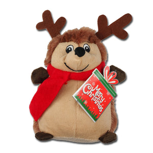 Henry the Christmas hedgehog will delight your pet this Christmas.  Henry is soft,sweet and squeaks as well.