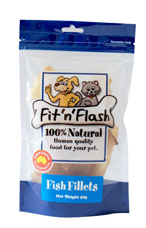 Fit 'n' Flash fish fillets -BULK PACK SIZE: 4 x 50g packs