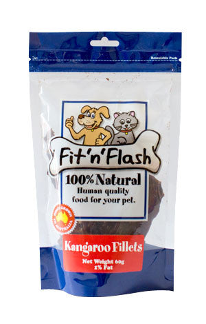 Fit 'n' flash Kangaroo fillets 60gm 4 PACK BULK BUY, save $4.00