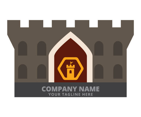 Castle Fort Shaped Business Card (free freight)