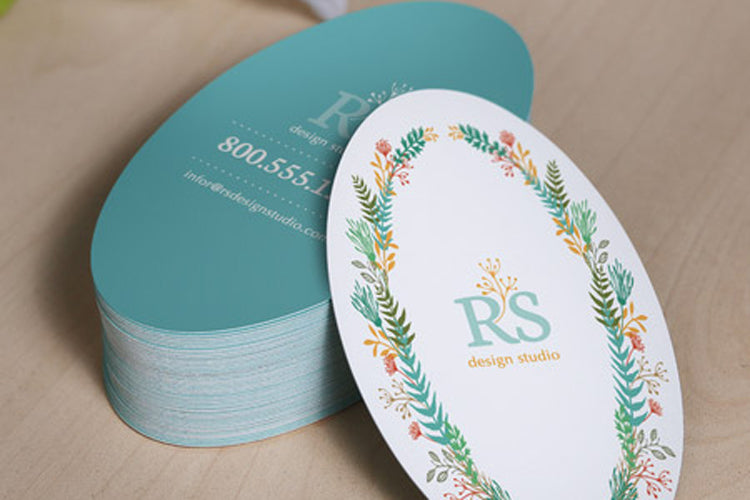 Oval Shaped Business Card (free freight)
