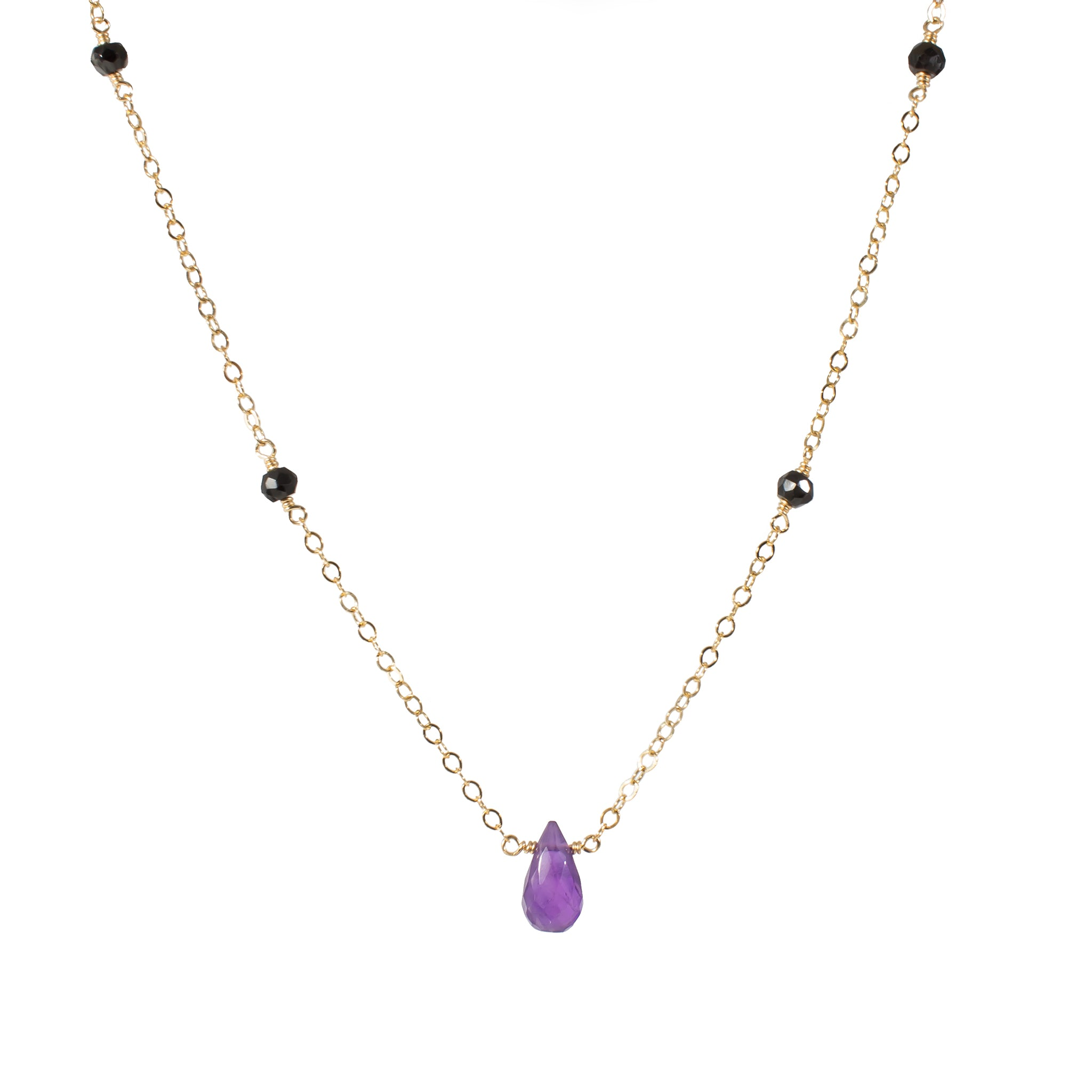 product spinel ela rae mystic stone necklace multistrand semiprecious black