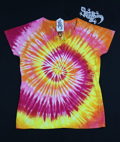 Tie Dye Women's V-Neck Size 2XL #013
