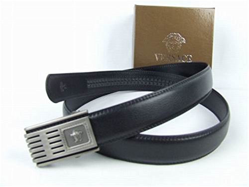 versace belt box. versace collection black leather silver buckle belt with box