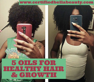5 oils for healthy hair and growth