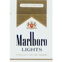 Marlboro Gold / Lights Box - Beernow.us - Ross Beverage