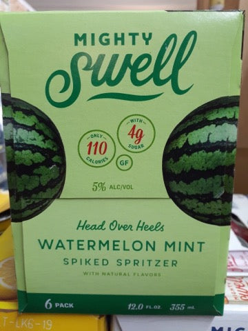 Mighty Swell - Watermelon Mint 6-pk - Beernow.us - Ross Beverage