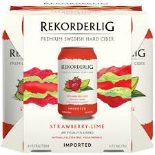 Rekorderlig - Strawberry Lime 4-pk - Beernow.us - Ross Beverage