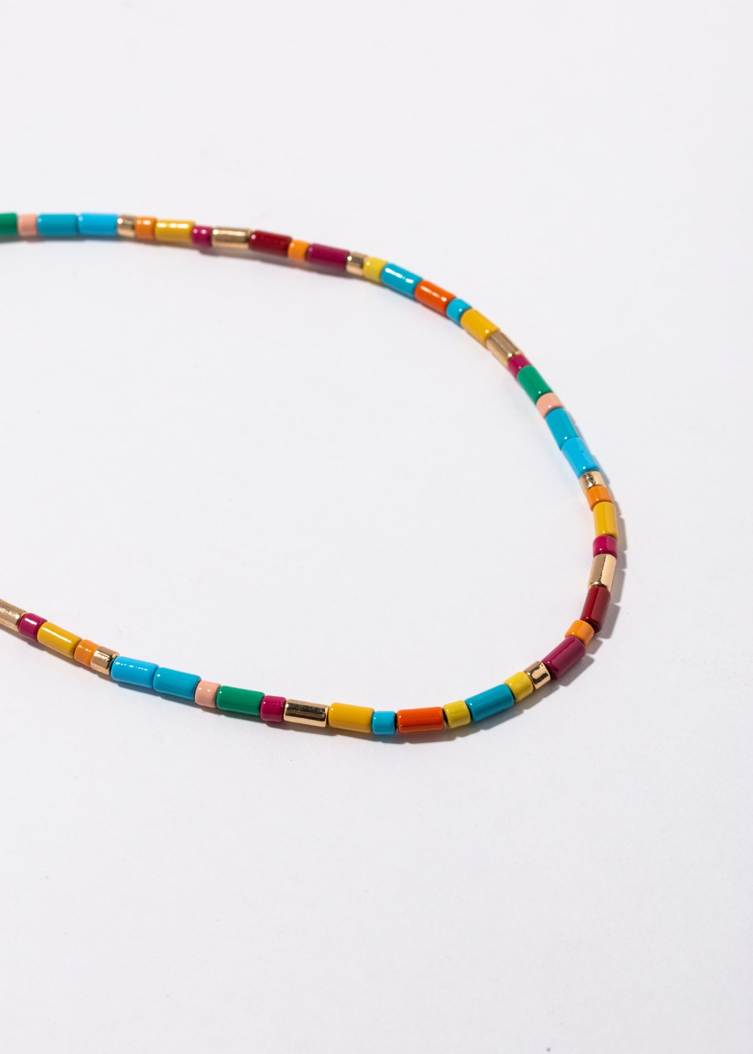 Tube Tile Necklace