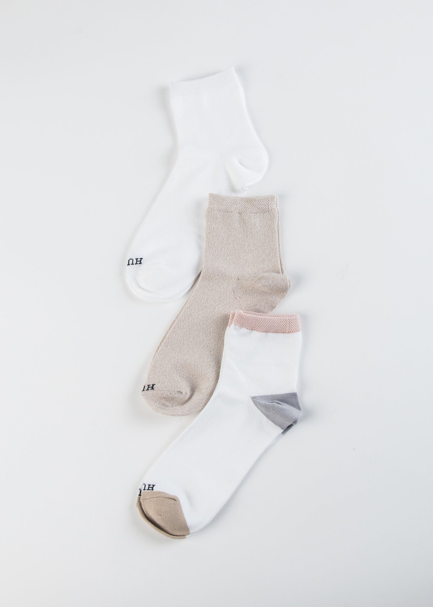 Super Soft Cropped Sock 3 Pair Pack