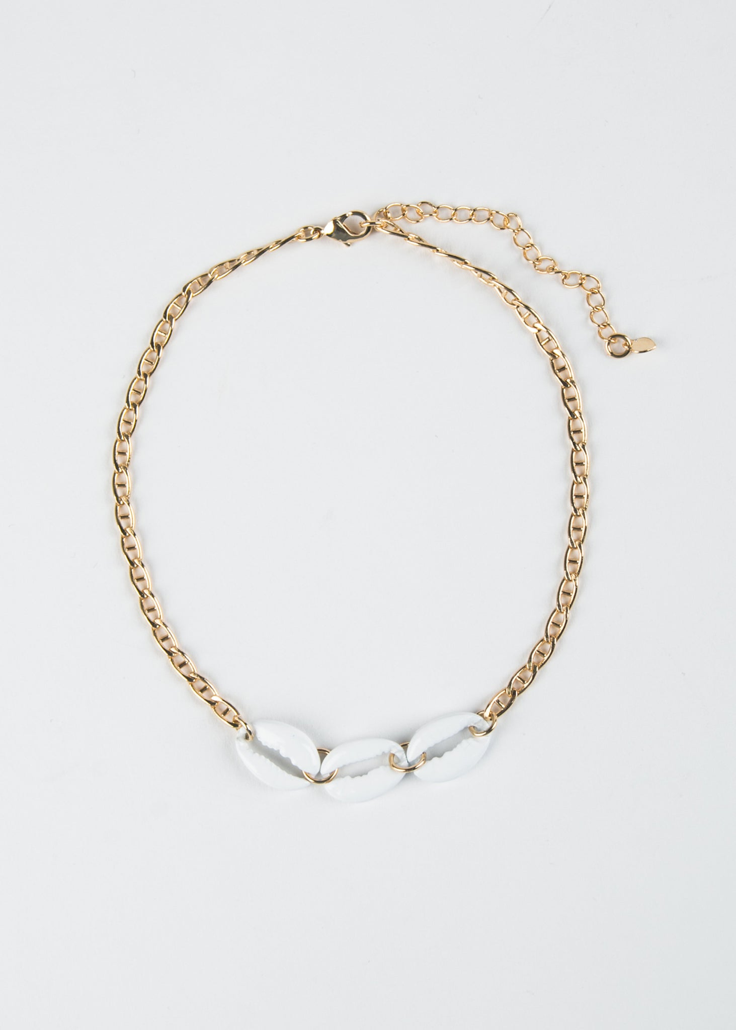 Seashell Gold Chain Anklet