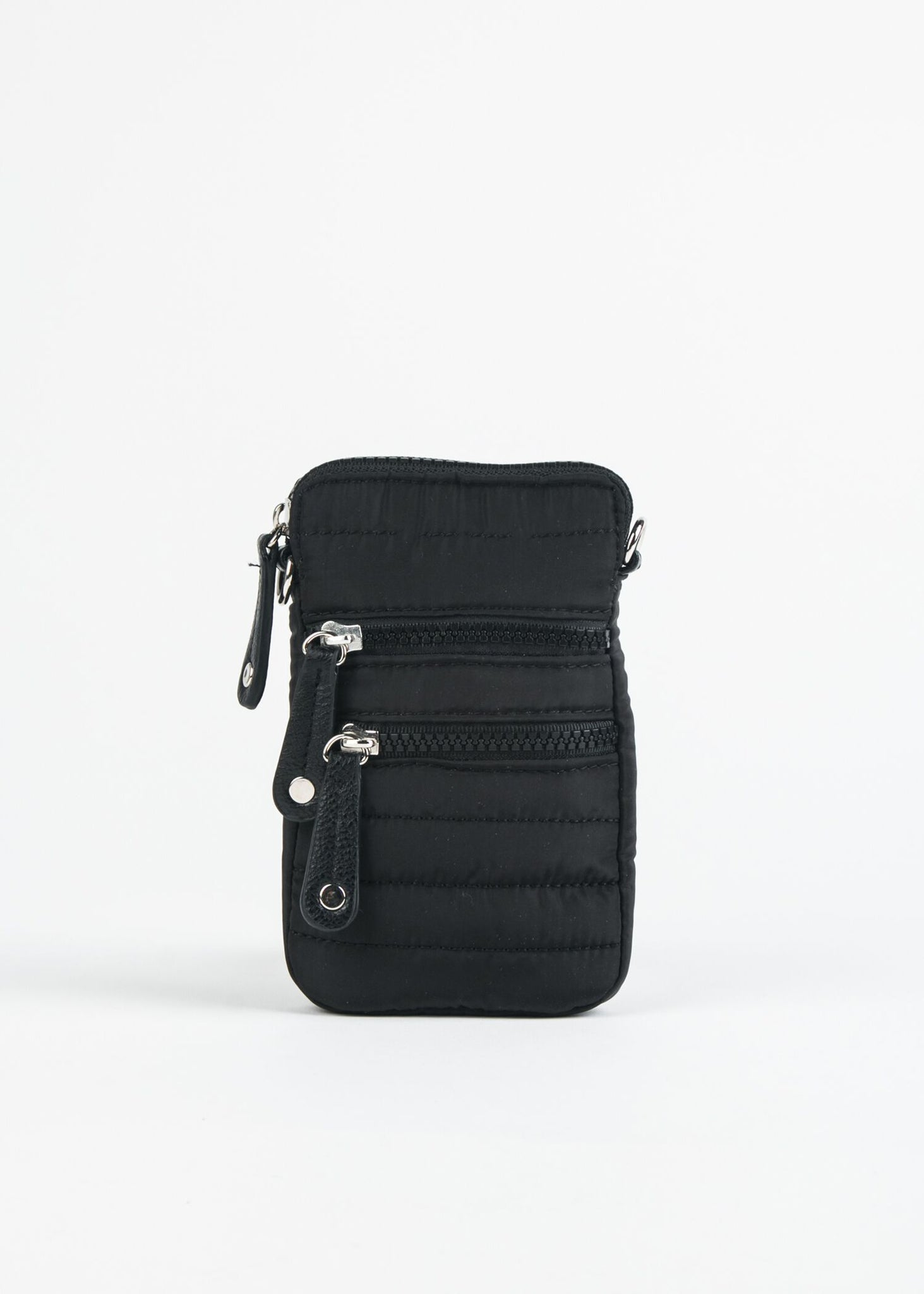 NYLON QUILT CROSSBODY PHONE CASE