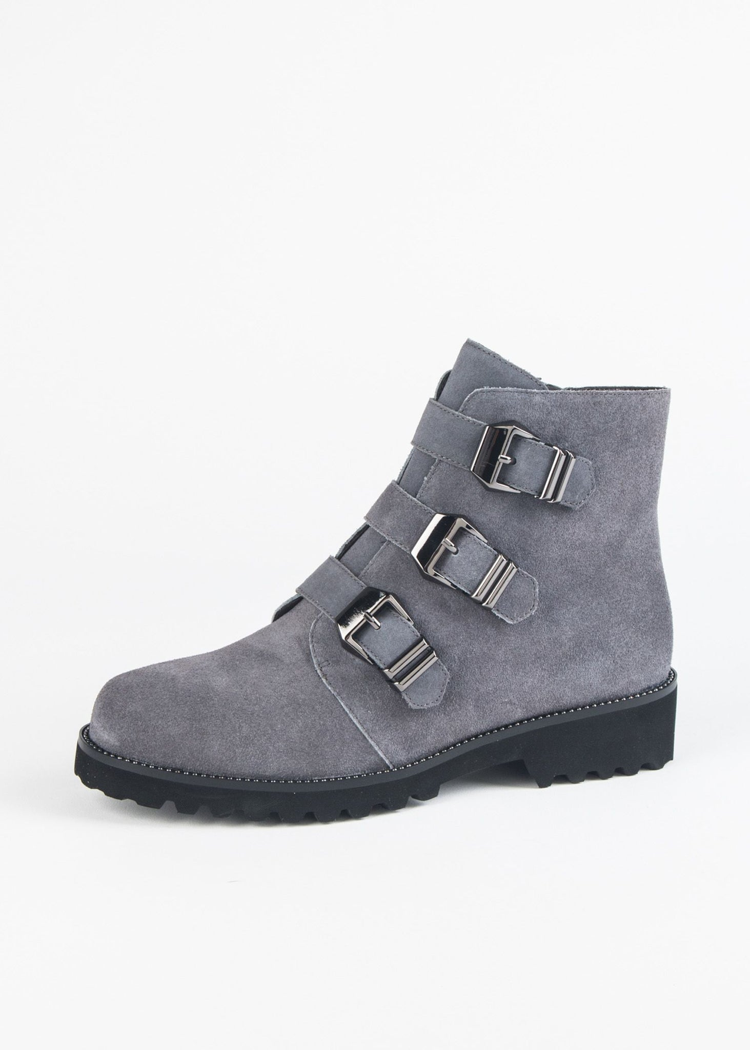 ZEMIRA THREE BUCKLE SUEDE BOOT