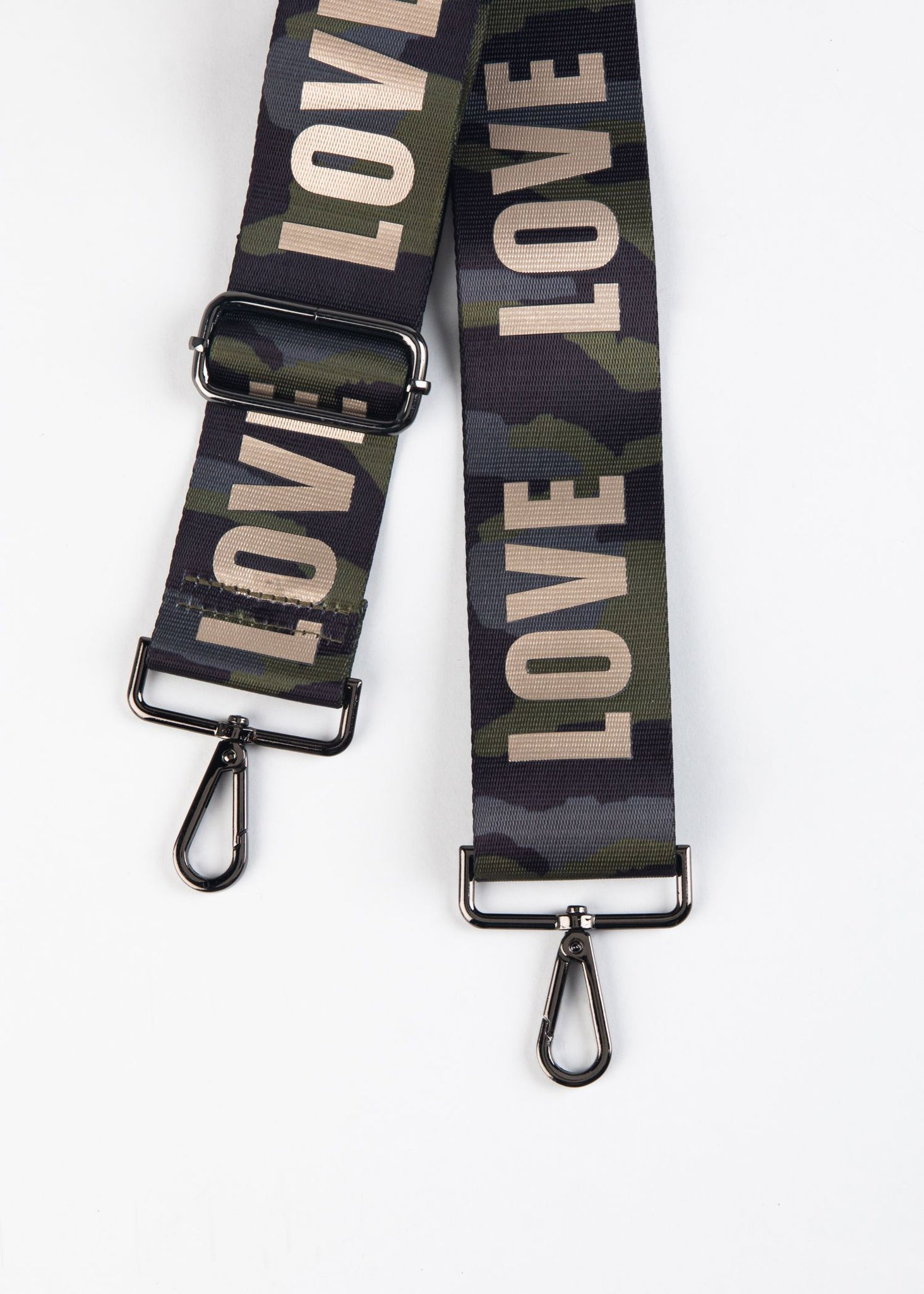 ADJUSTABLE LOVE CAMO BAG STRAP