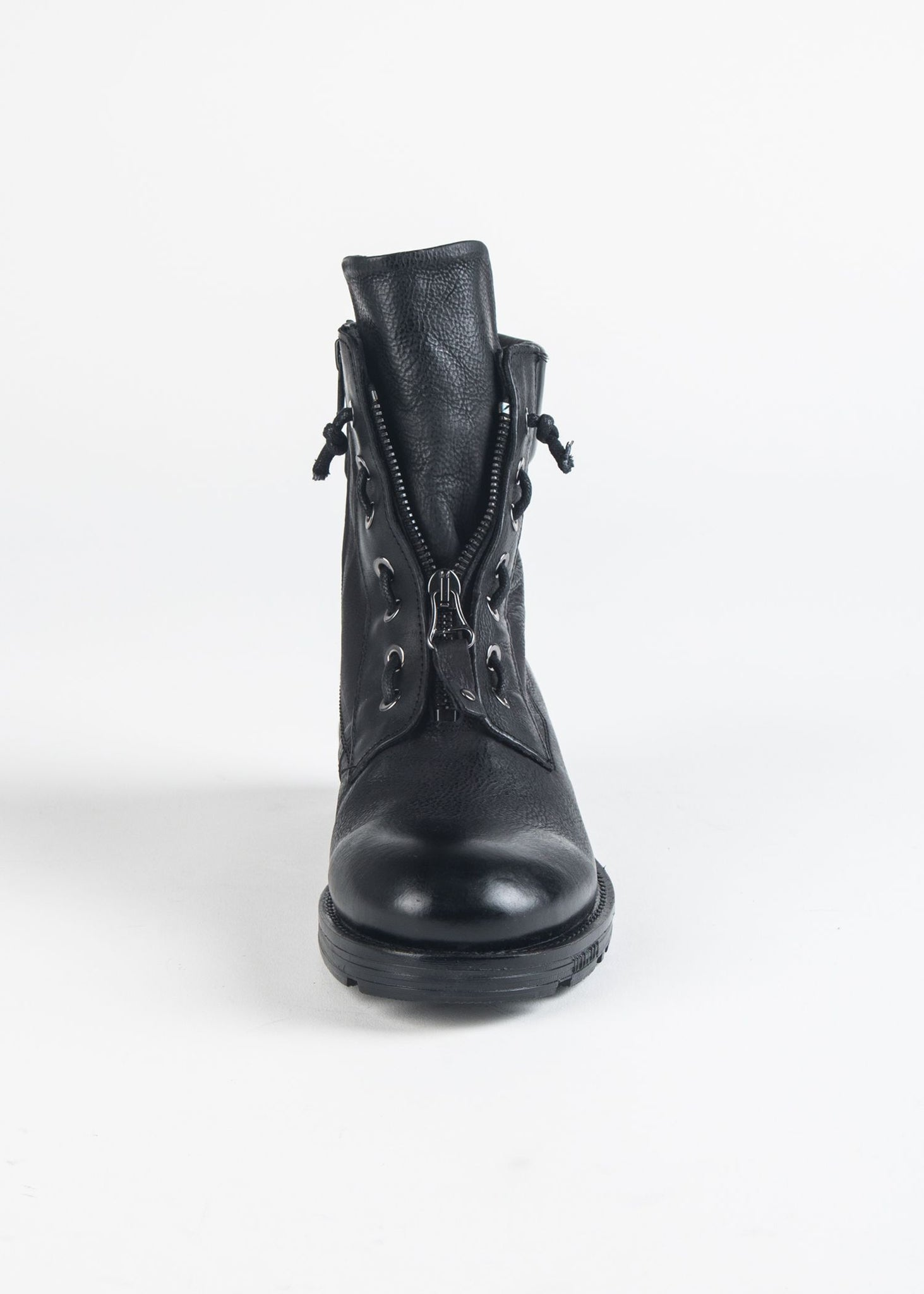 LACED ZIP UP BOOT