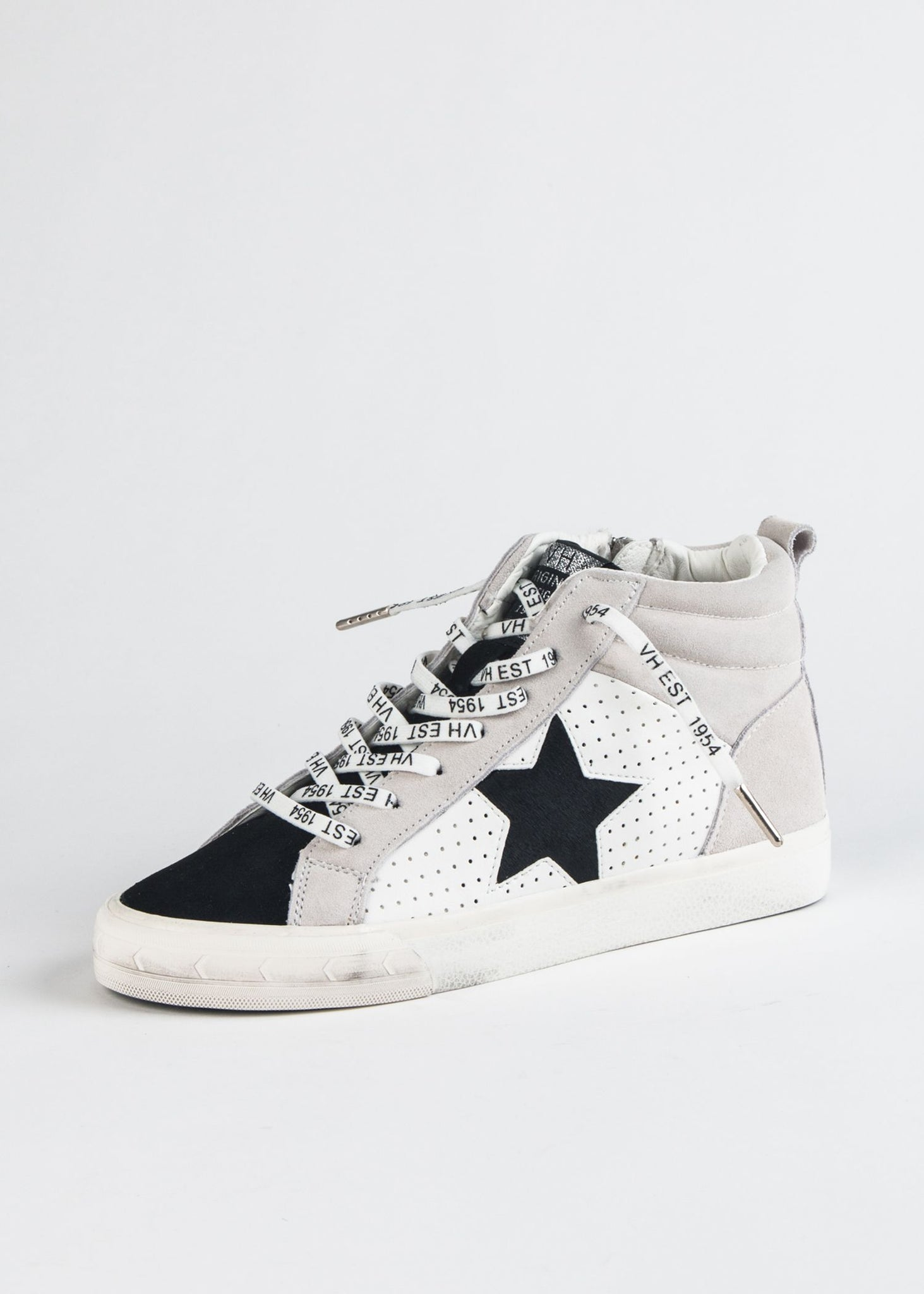 LESTER DISTRESSED STAR HI-TOP SNEAKER