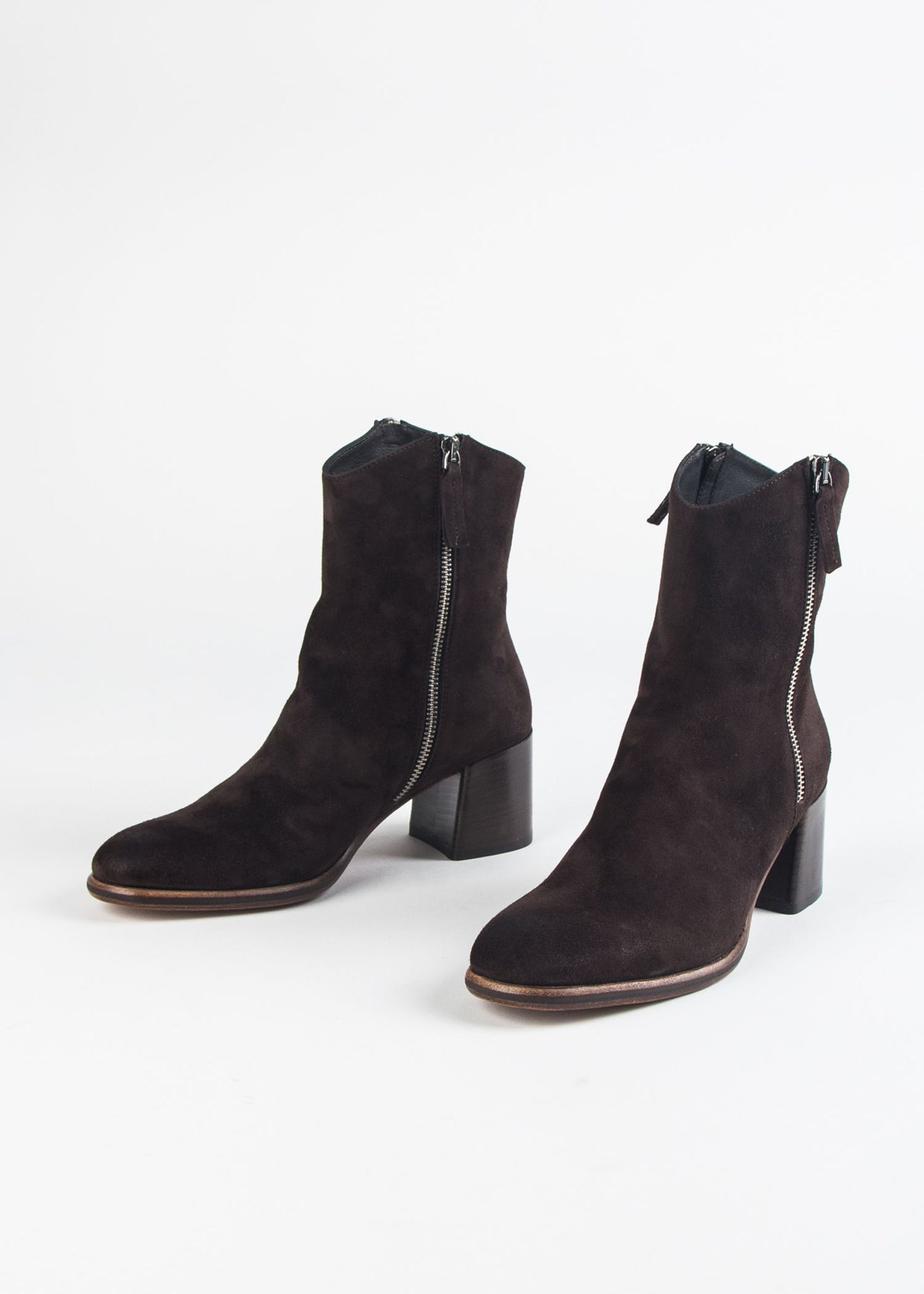 DUAL ZIPPER SUEDE BOOT