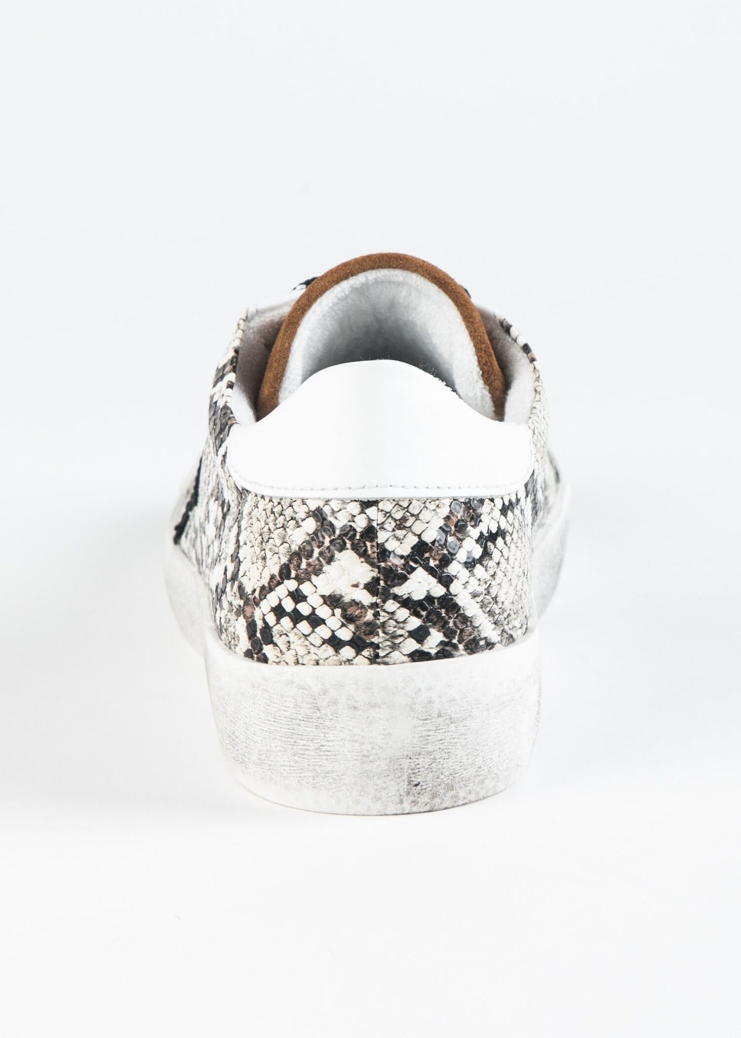 VENEK-61 DISTRESSED SNAKESKIN AND SUEDE STAR SNEAKER