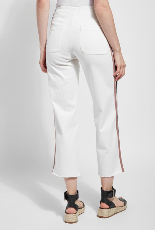 Wide Leg Pant With Stripe