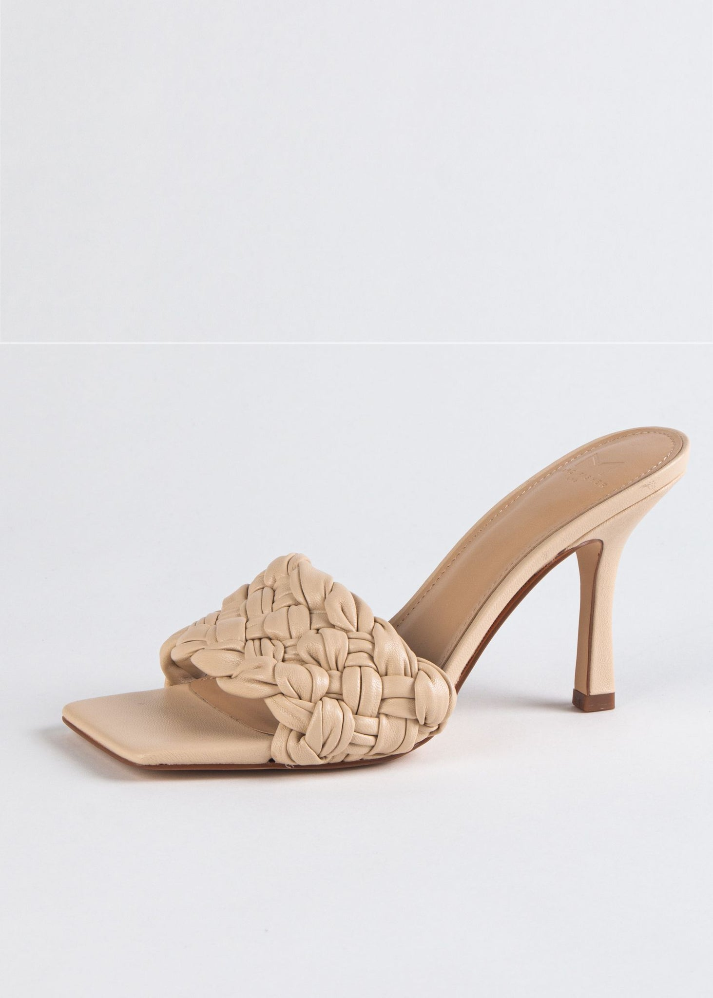 DRAYA HEELED SLIDE SANDAL