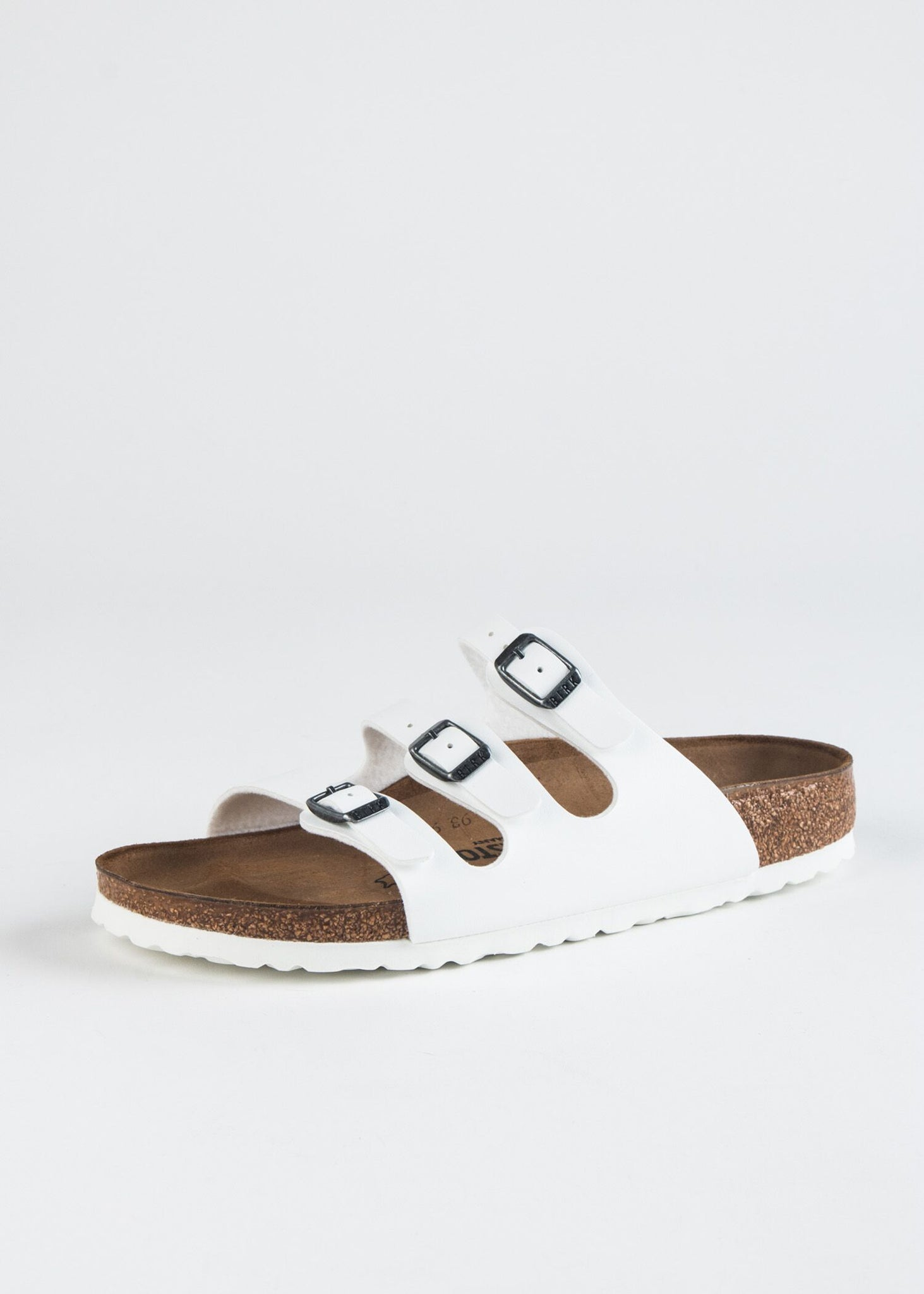 FLORIDA TRIPLE BUCKLE VEGAN LEATHER SANDAL