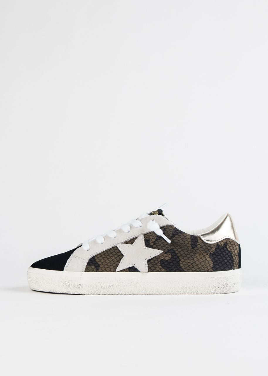 PERSUE DISTRESSED MIXED MEDIA SNEAKER