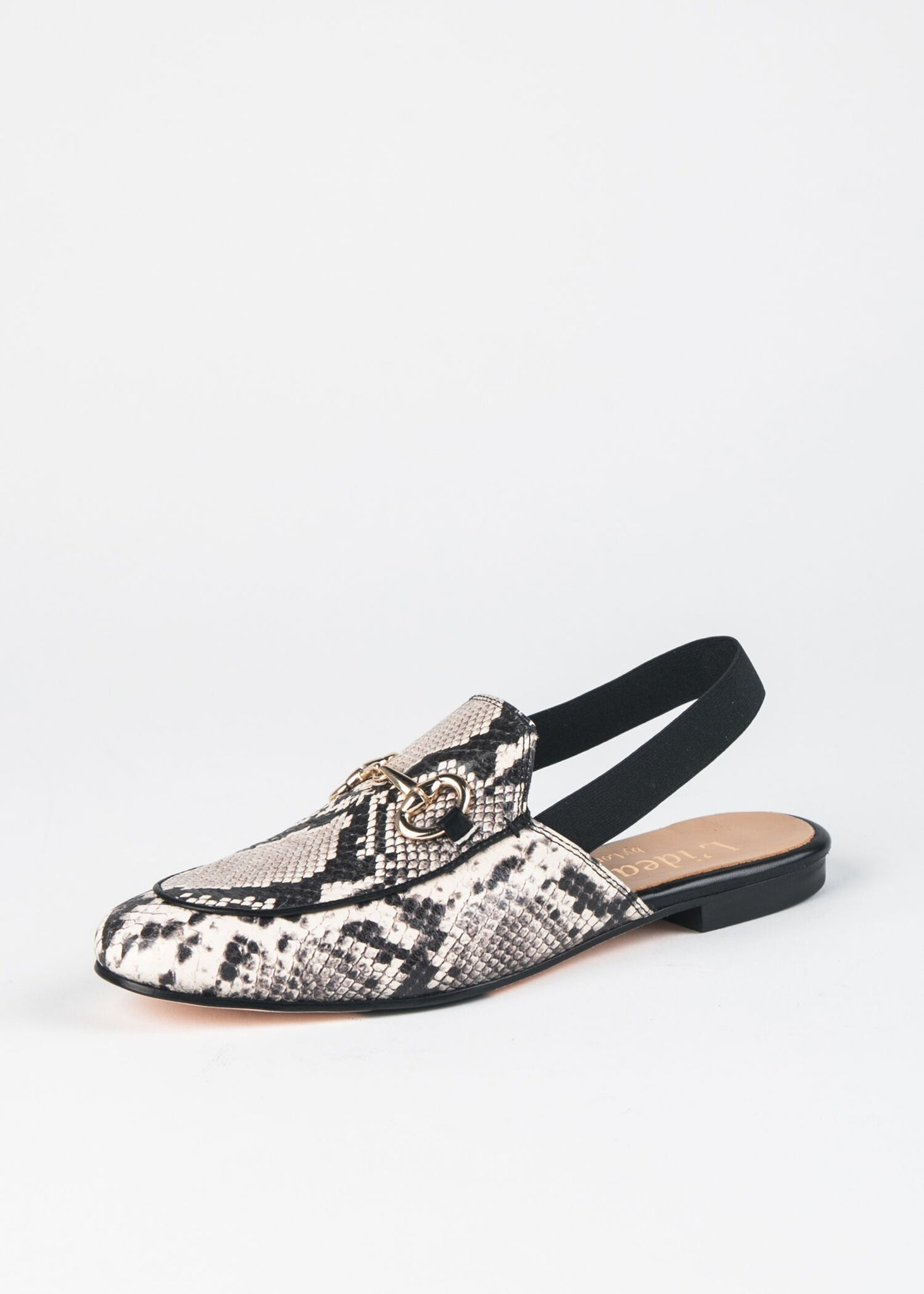 SNAKESKIN LEATHER MULE SLINGBACK WITH BIT