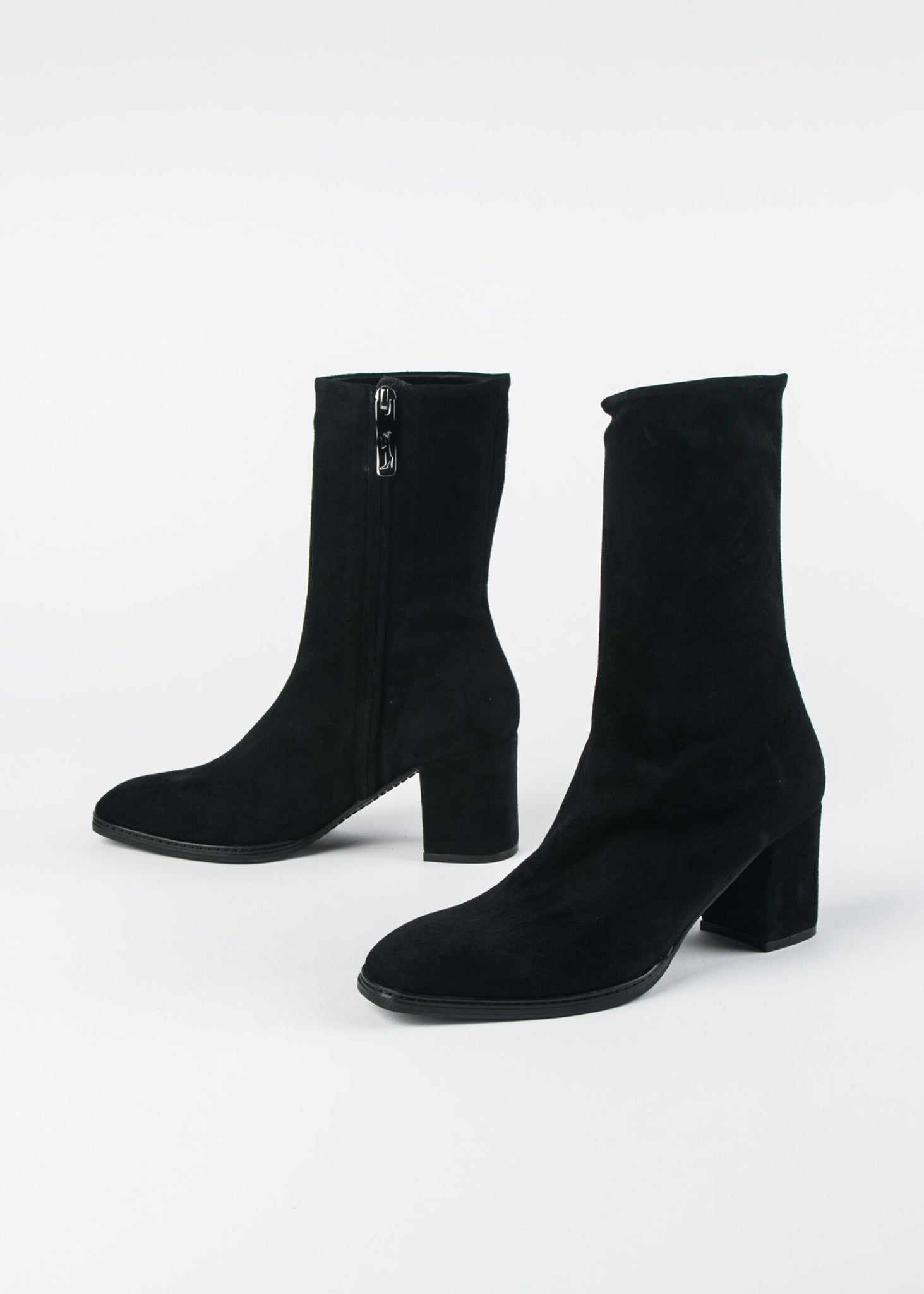 HEELED SUEDE SOCK BOOT