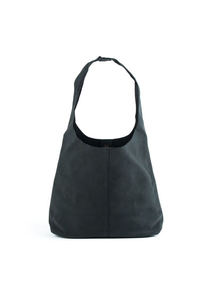 VEGAN SUEDED HOBO BAG