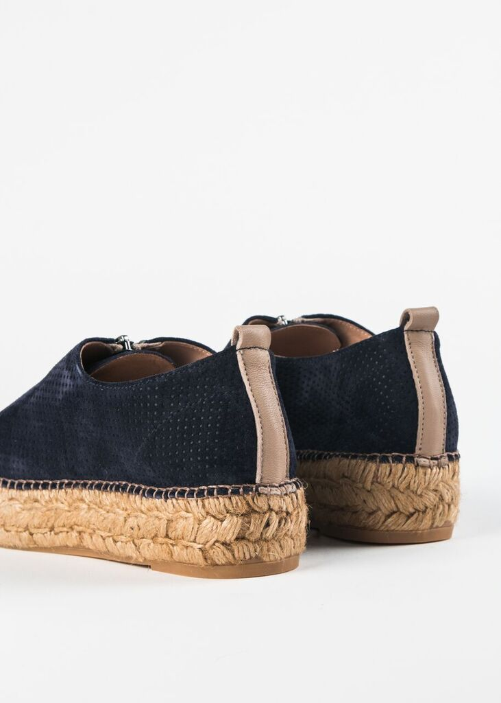 SERENA-PERFORATED SUEDE ZIPPER ESPRADRILLE