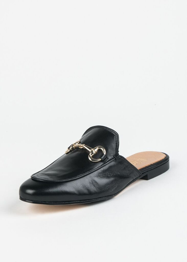 LEATHER MULE WITH BIT