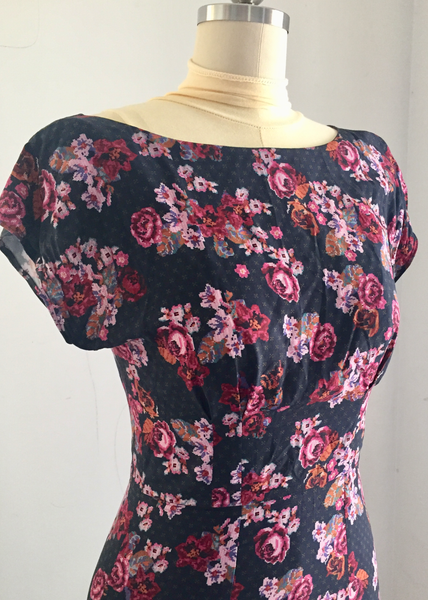 By Hand London Anna Dress Rayon Woven Floral Printed Fabric Sewing