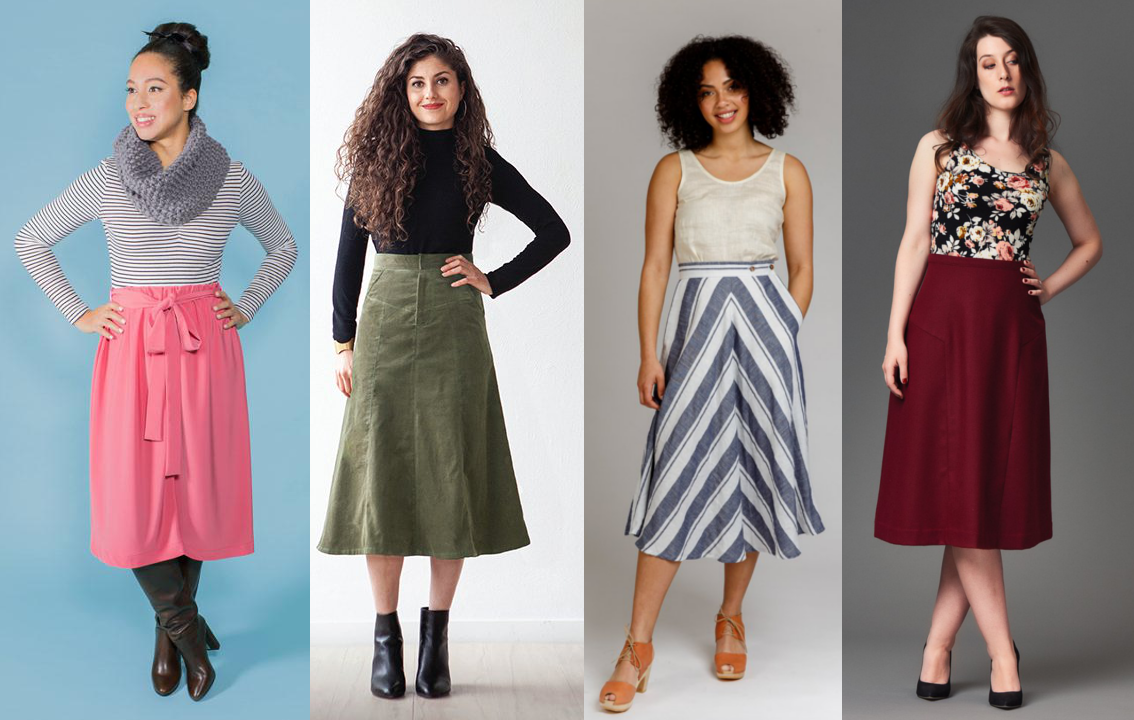 Midi Skirts - March Needle Sharp Box