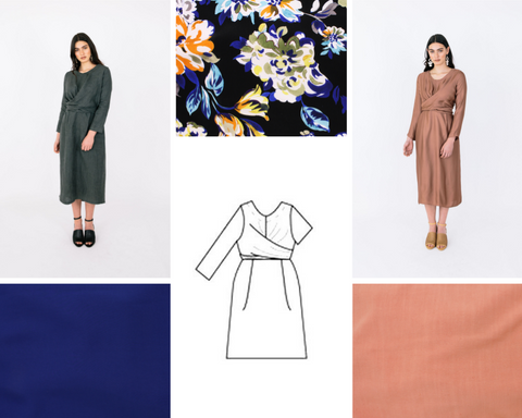 Meridian Wrap Dress Mood Board