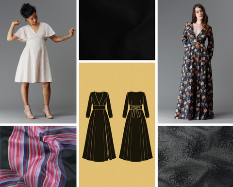 Magnolia Wrap Dress Mood Board