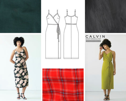 Calvin Wrap Dress Mood Board