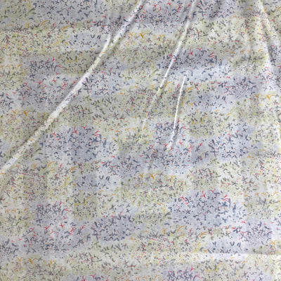 Liberty of London Green/Blue Floral Stretch Cotton Poplin Fabric