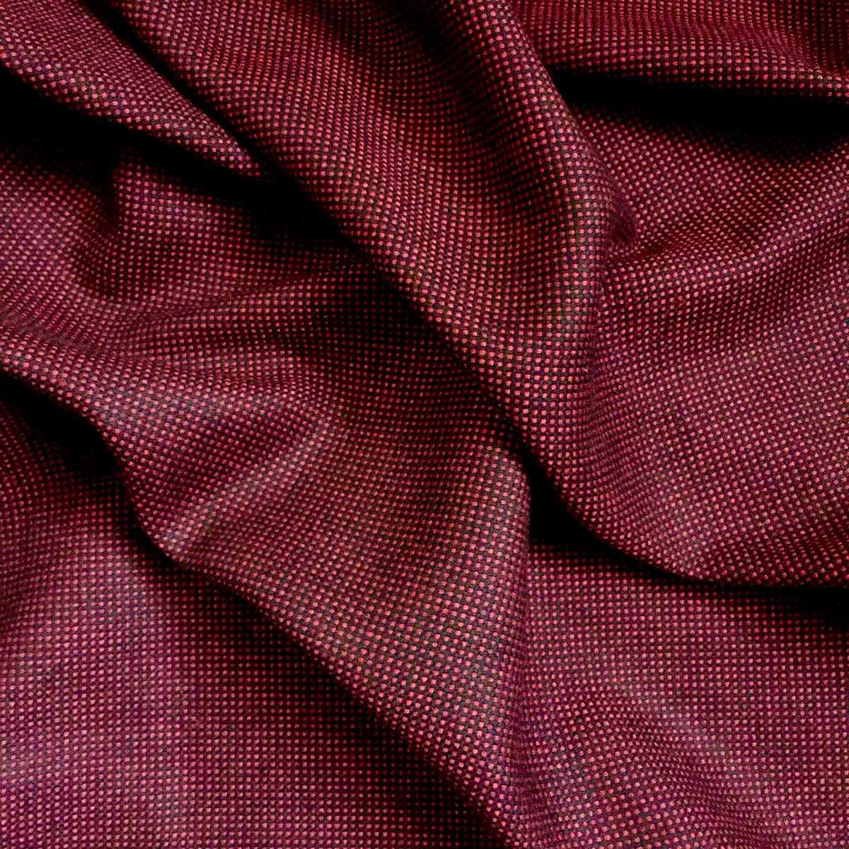 Fabric by the yard Sewing Black Red Micro-check Woven Polyester