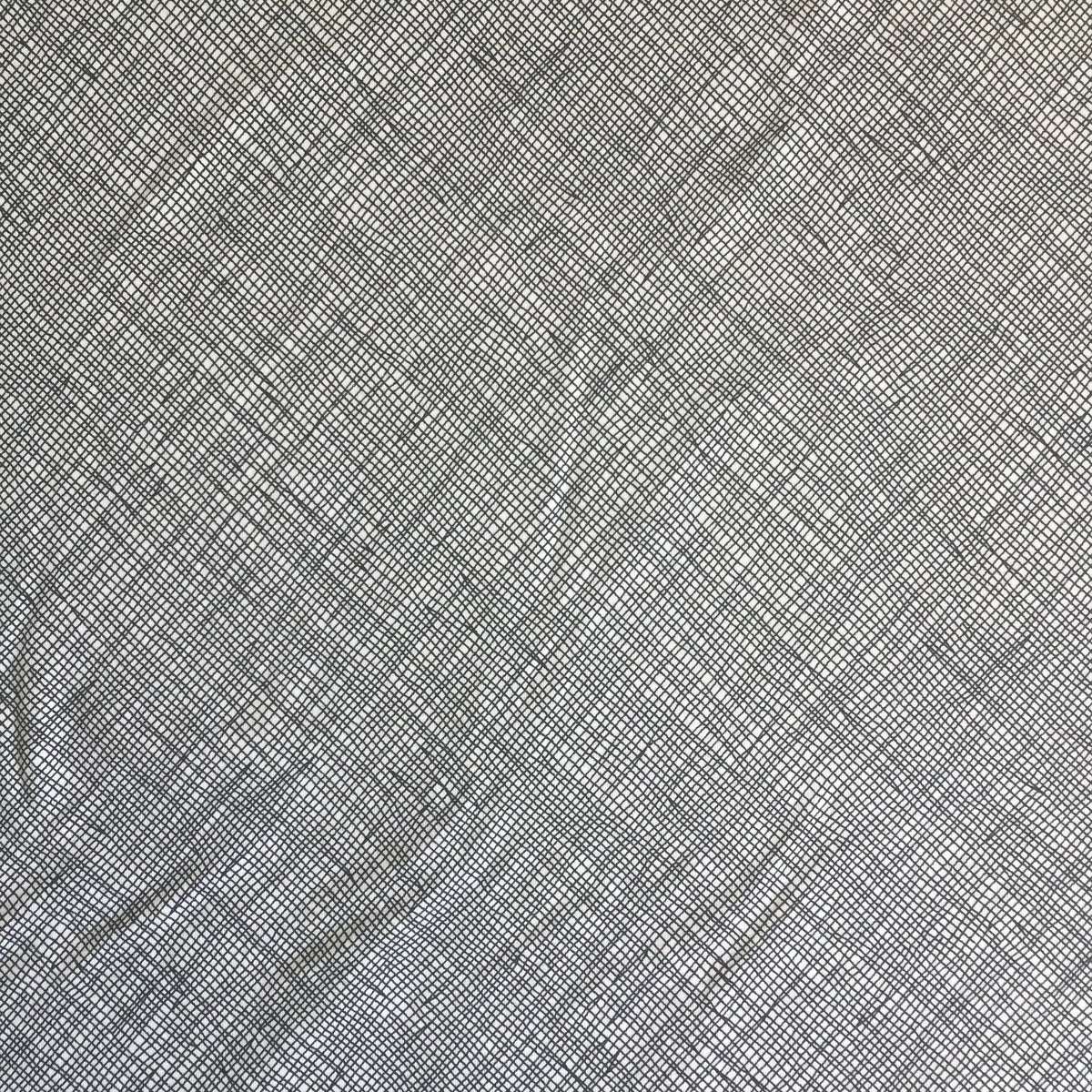 Black Crosshatch Cotton/Spandex Jersey Fabric by the Yard
