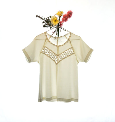 Blouse Boxes - Gold Wildflower Crepe Clover Dress