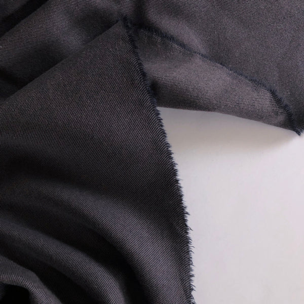 Charcoal Brushed Cotton-Tencel Brushed Flannel
