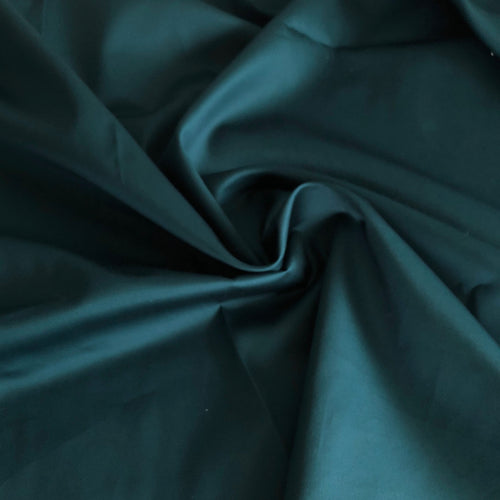 Deep Teal Satin Shirting