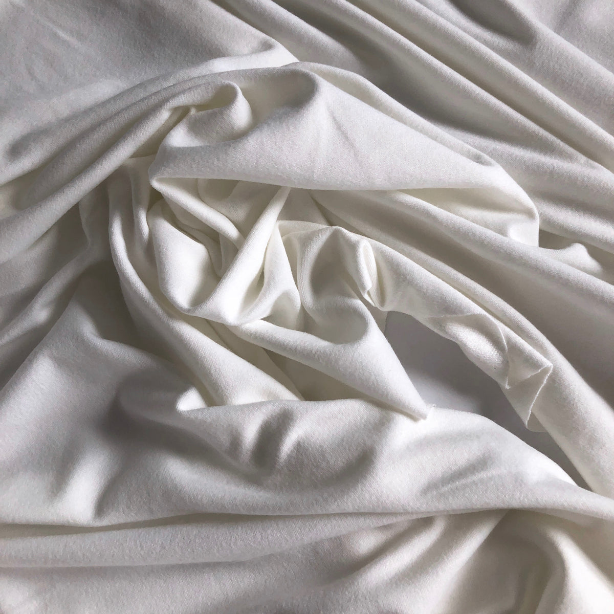 Ivory Double Brushed Polyester Knit