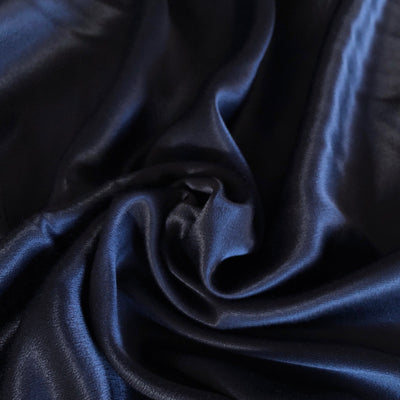 Navy Viscose Satin