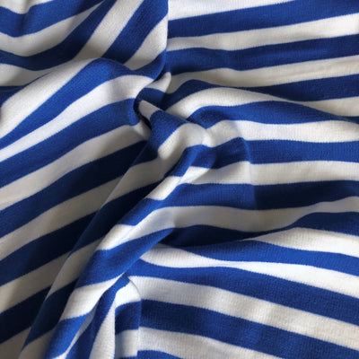 Royal Blue Striped Ponte De Roma