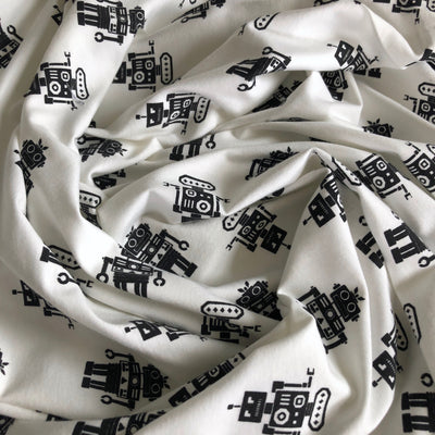 Robots Cotton Spandex T-Shirt Knit