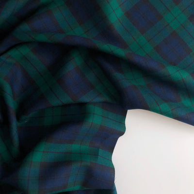 Black Watch Plaid Cotton Lawn