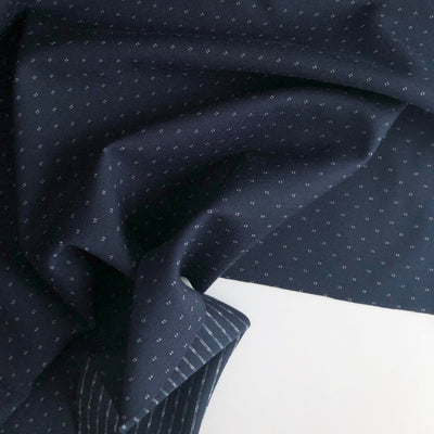 Navy Blue Dotted Ponte