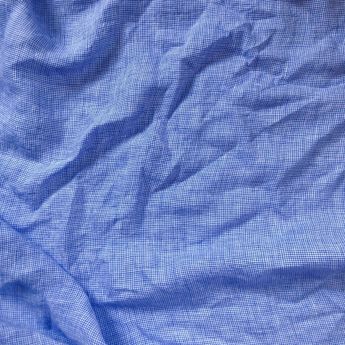 Blue Check Umbria Linen
